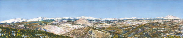 Panorama From Flagstaff Mountain Poster