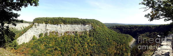 Panorama Of Cliff At Letchworth State Park Poster