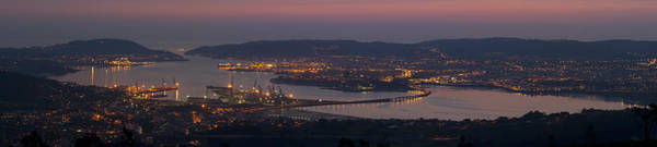 Panorama Of Ferrol From Mount Marraxon Galicia Spain Poster