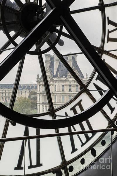 Poster featuring the photograph Paris Clock by Brian Jannsen