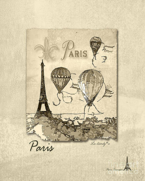 Paris In Sepia Poster
