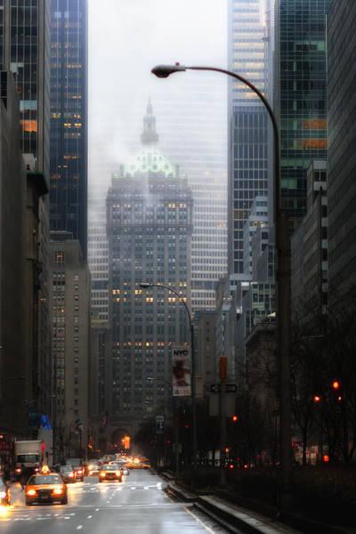 Park Avenue Dawn In Color Poster