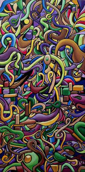 Party Life 2 - Modern Abstract Painting - Ai P. Nilson Poster