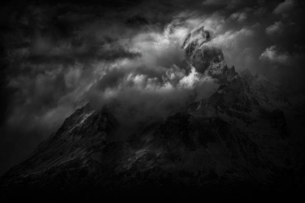 Passing Storm Over The Paine Massif Poster