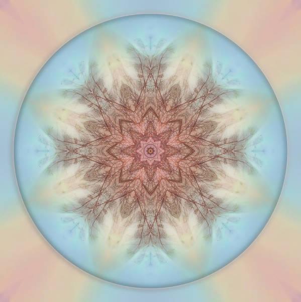 Pastel Sky Mandala Poster