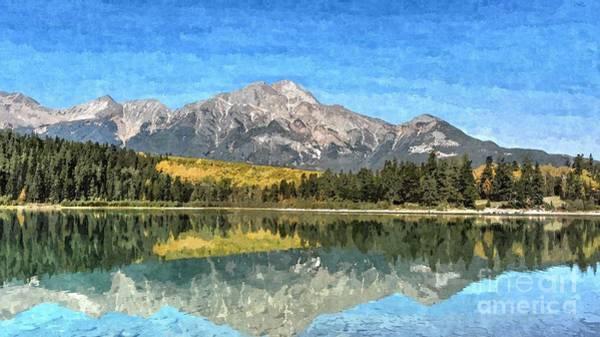 Patricia Lake Mountains Poster