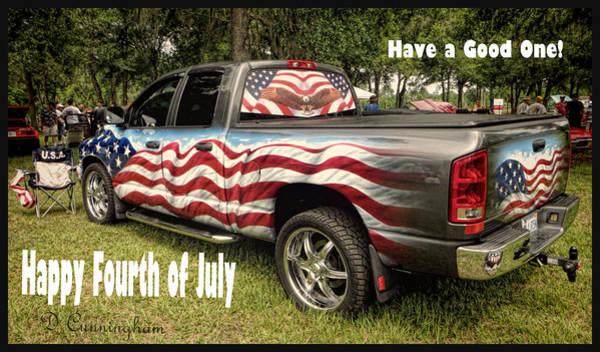 Patriotic Truck Poster