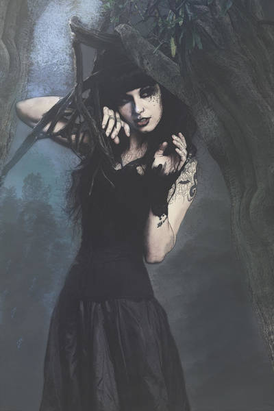 Peek Gothic Scene Poster