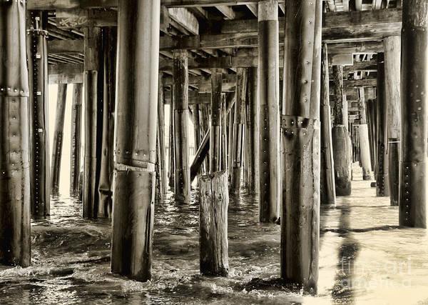 Peeking Under The Pier By Diana Sainz Poster