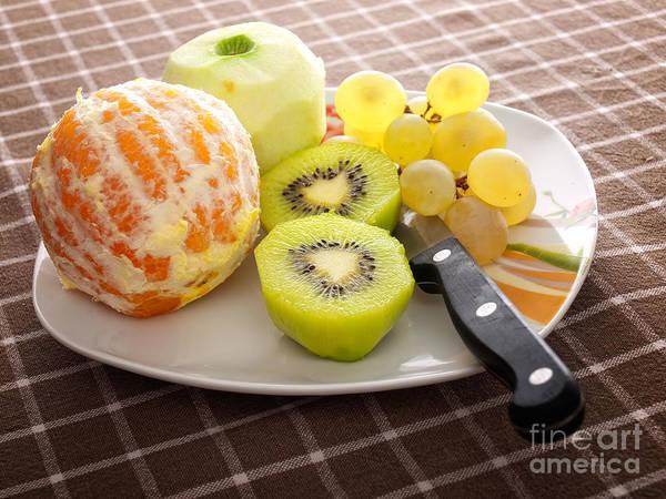 Peeled Fruit Poster