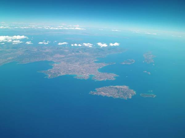 Peloponnese From Space Poster