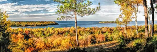 Peninsula State Park Scenic Overlook Panorama Poster