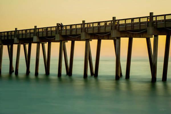 Pensacola Beach Fishing Pier Poster