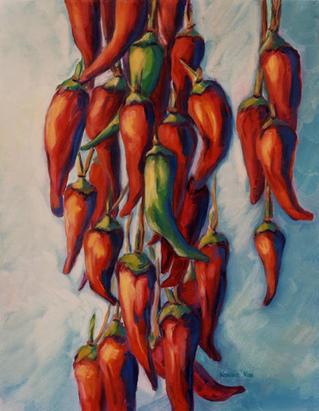 Poster featuring the painting Peppers by Konnie Kim