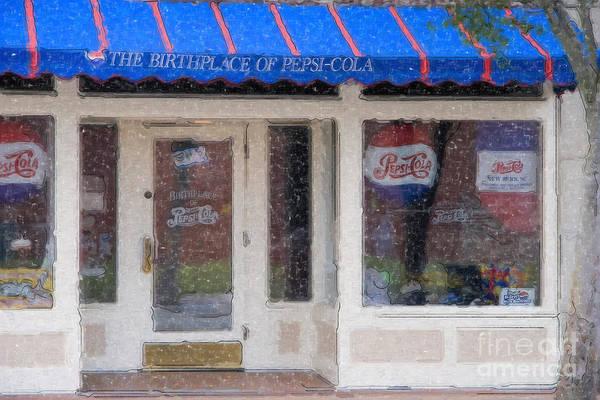 Pepsi Cola Birthplace Watercolor Poster