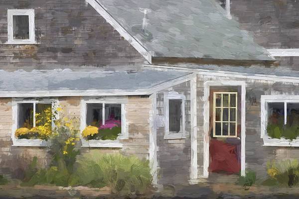 Perkins Cove Maine Painterly Effect Poster
