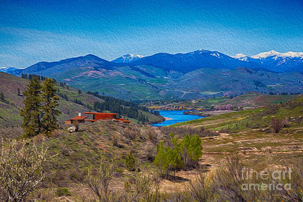 Perrygin Lake In The Methow Valley Landscape Art Poster