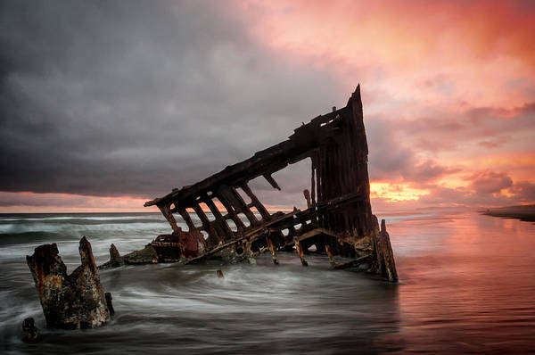 Peter Iredale Sunset Poster