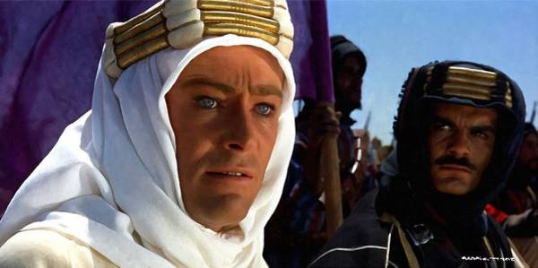 Peter Otoole And Omar Sharif In Lawrence Of Arabia Poster