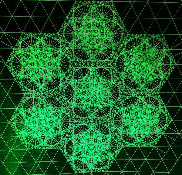 Photon Interference Fractal Poster