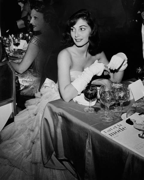 Pier Agnelli Wearing An Evening Gown At A Ball Poster