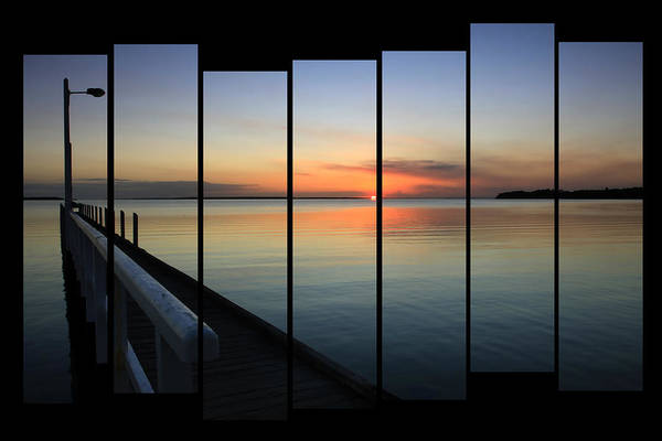 Pier View Sunset Poster