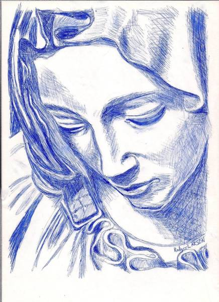 Pieta Face Poster