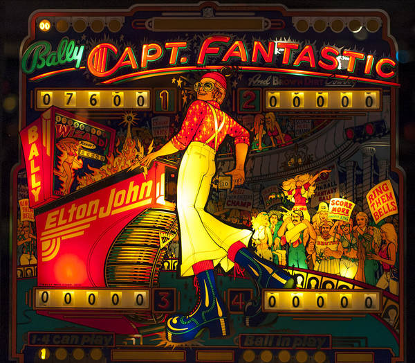 Pinball Machine Capt. Fantastic Poster