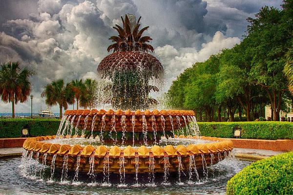 Pineapple Fountain Charleston Poster