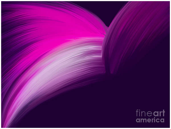 Pink And Purple Curves Poster