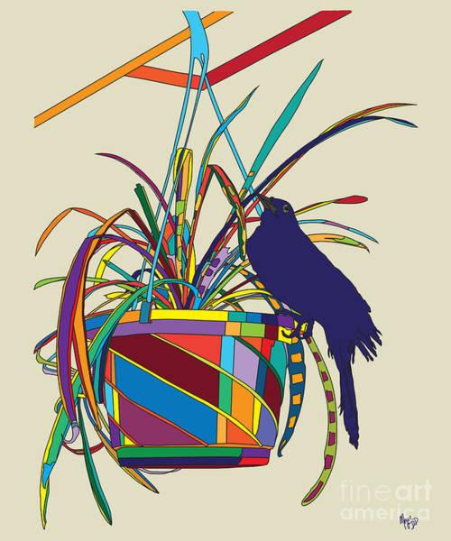 Plant Bird Pop Poster