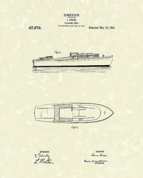 Pleasure Boat 1915 Patent Art Poster