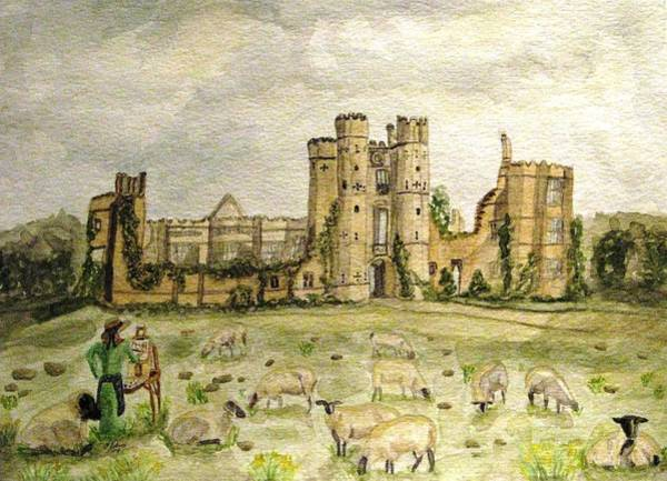 Plein Air Painting At Cowdray House Sussex Poster