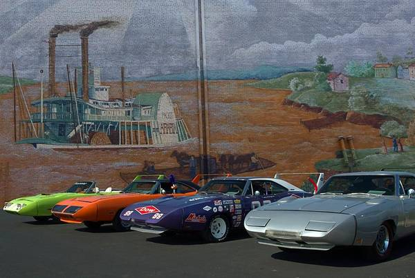 Plymouth Superbirds And Dodge  Daytonas Poster