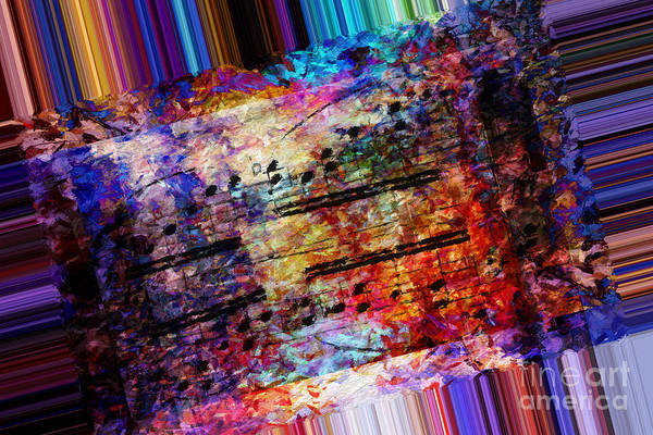 Poster featuring the digital art Polychromatic Postlude 1 by Lon Chaffin