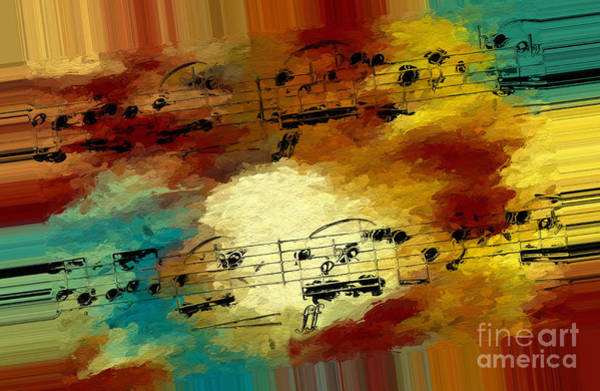 Poster featuring the digital art Polychromatic Postlude 3 by Lon Chaffin
