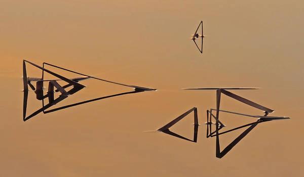 Pond Reeds Sunrise 3 Poster