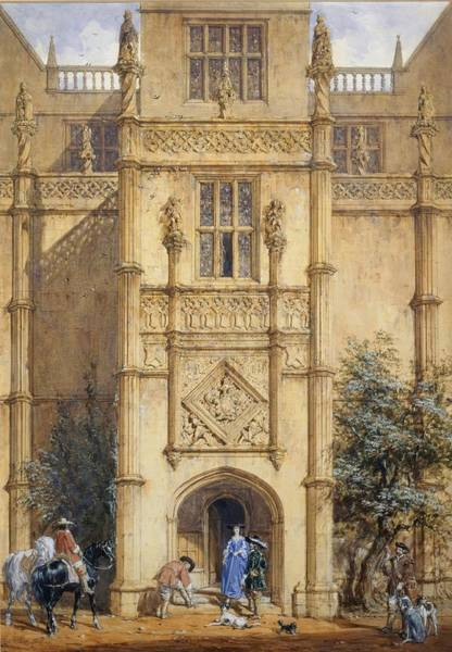 Porch At Montacute, 1842 Poster
