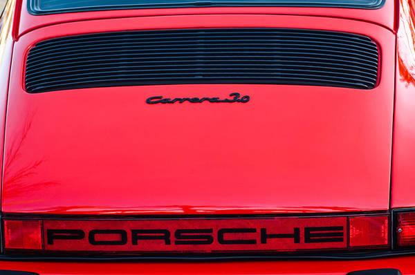 Porsche Carrera 3.0 Taillight Emblem -0024c Poster