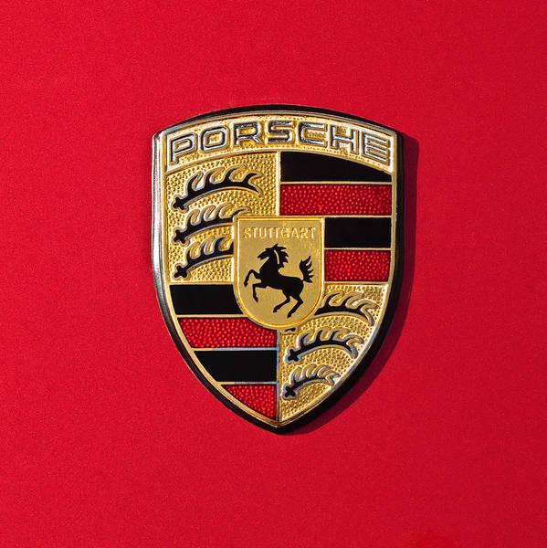 Porsche Emblem -0057cold Poster