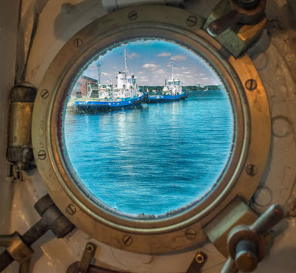 Poster featuring the photograph Hmcs Haida Porthole  by Garvin Hunter