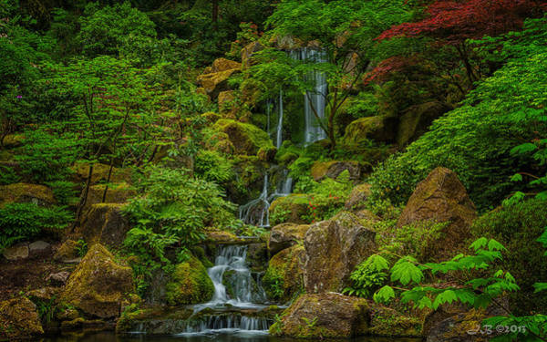 Poster featuring the photograph Portland Japanese Gardens by Jacqui Boonstra
