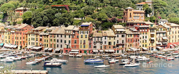 Poster featuring the photograph Portofino Panorama by Kate McKenna