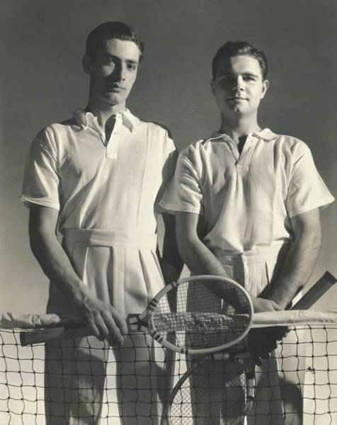 Portrait Of Tennis Players Poster