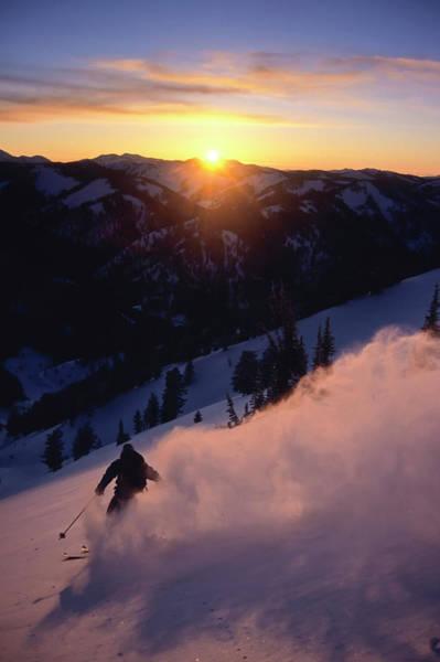 Powder Snow Billows Into The Air Poster