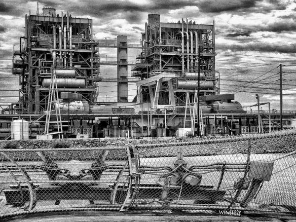 Power Plant In Long Beach Poster