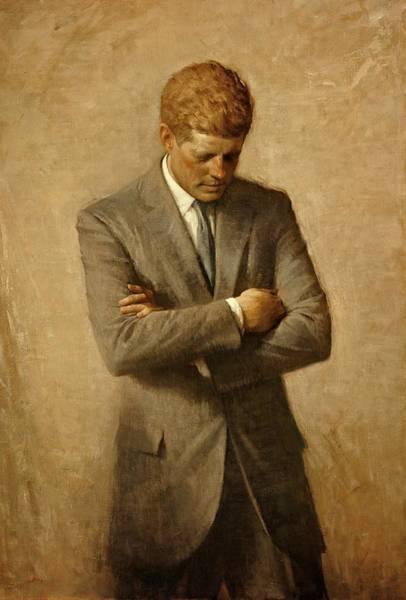President John F. Kennedy Official Portrait By Aaron Shikler Poster