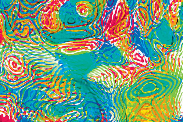 Primary Ripples Tropical Poster
