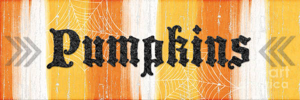 Pumpkins Sign Poster