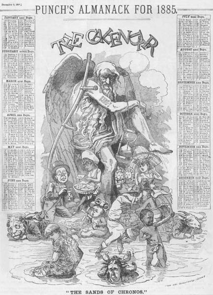 Punch's Almanack For 1885 Poster
